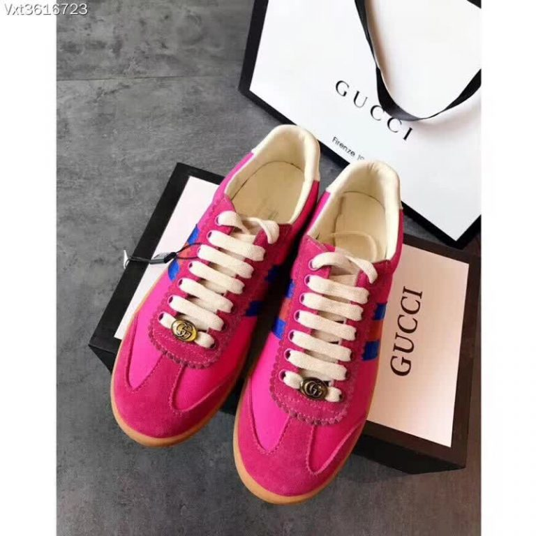 Gucci Leather and Suede Web Sneaker 5252892018
