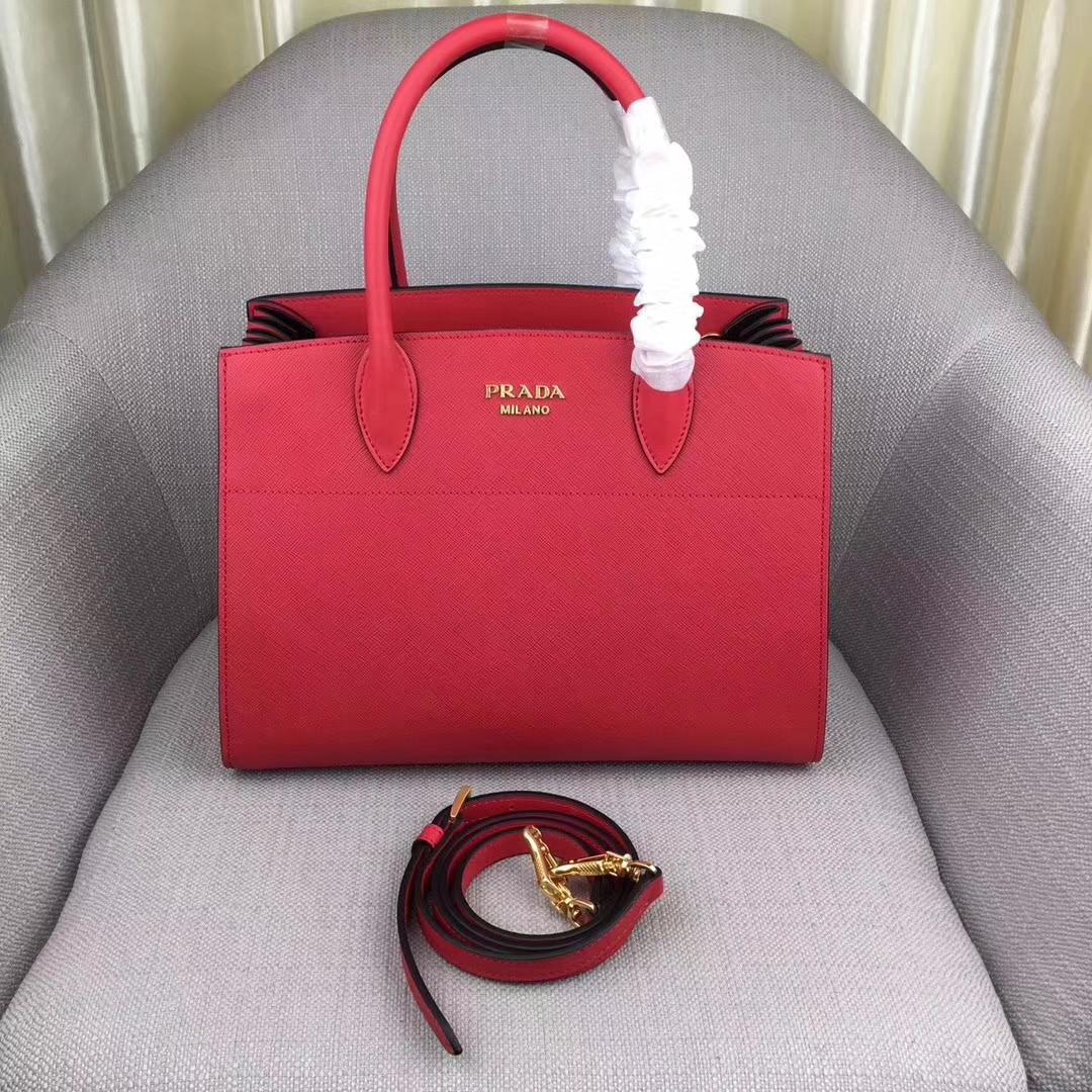Prada bibliothèque Medium Saffiano Top Handle Tote Bag1BA049