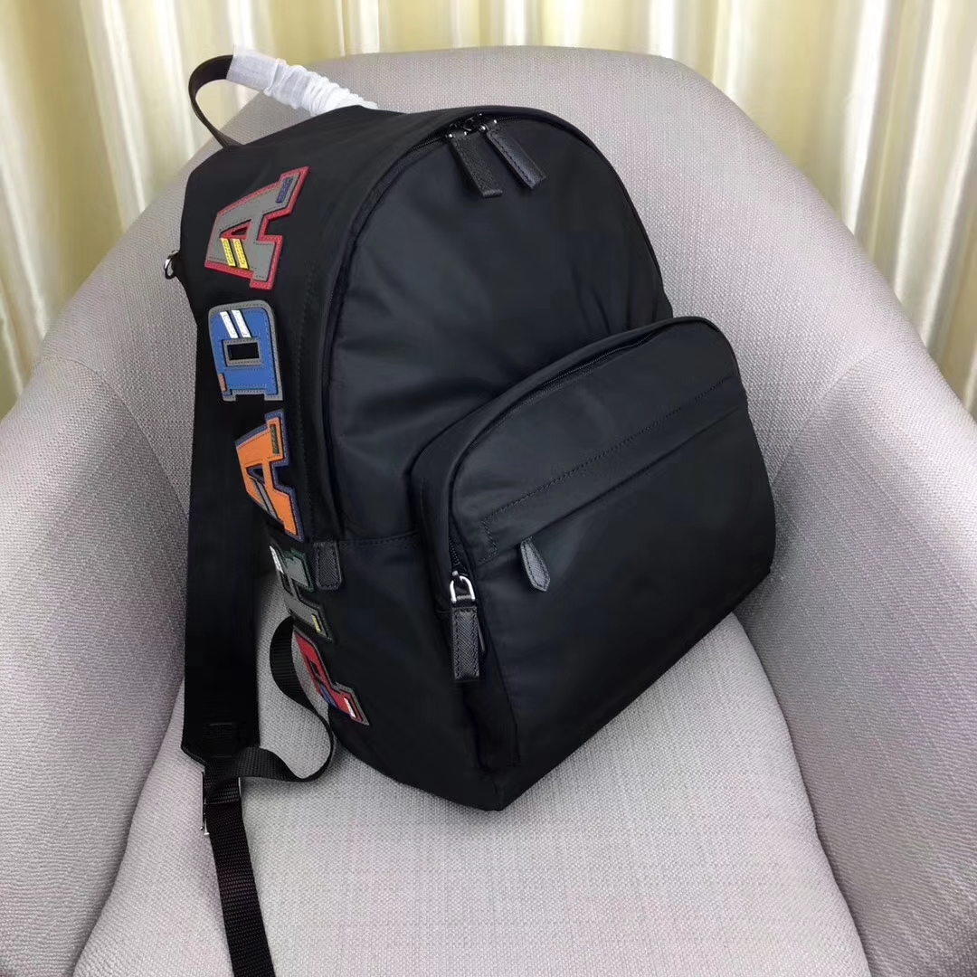 Prada Technical Fabric Backpack Bag 2VZ066 Black