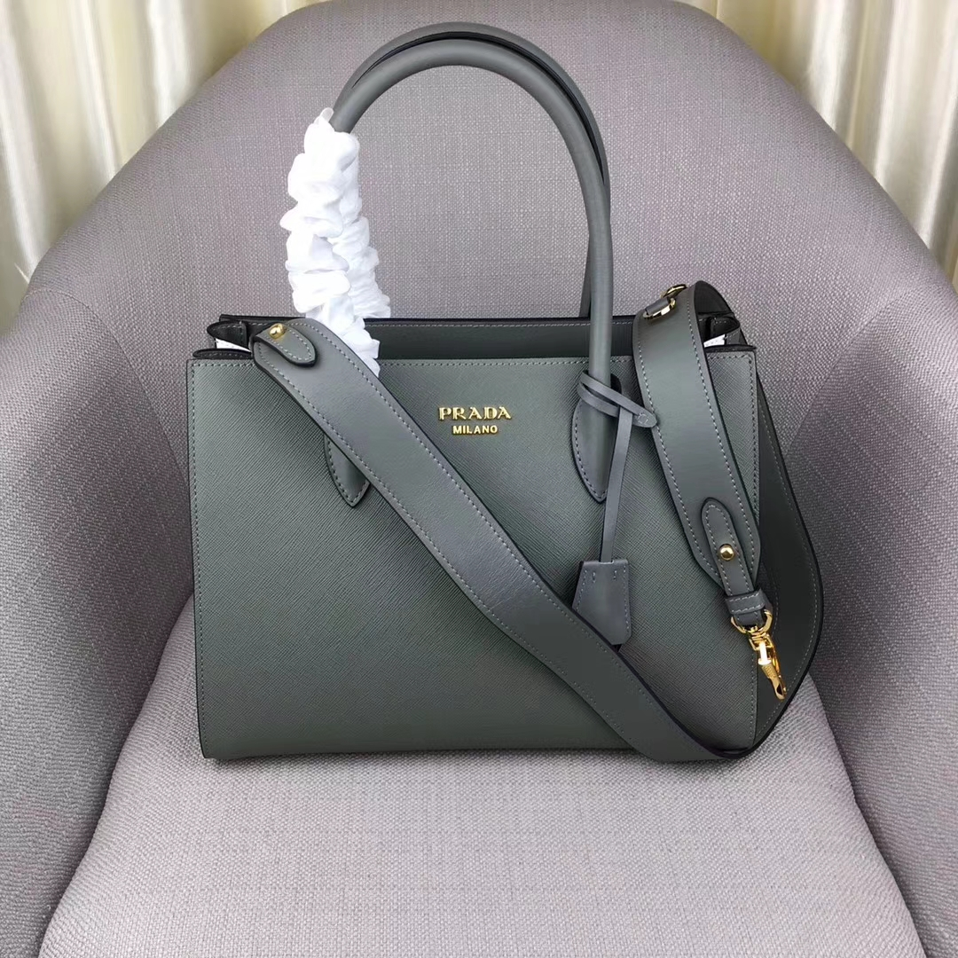 Prada bibliothèque Saffiano leather Top Handle Tote Bag 1BG088