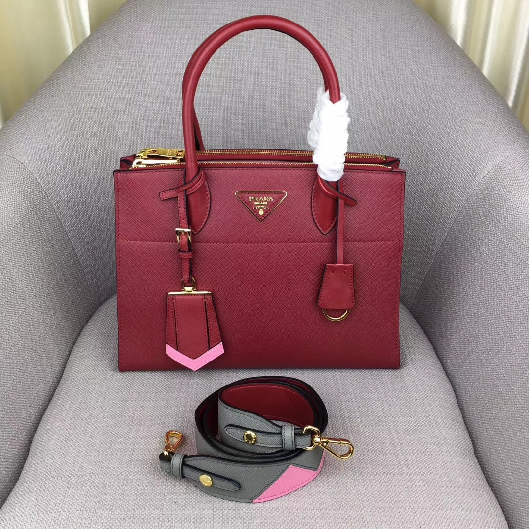 Prada Paradigme Saffiano Leather Bag 1BA102