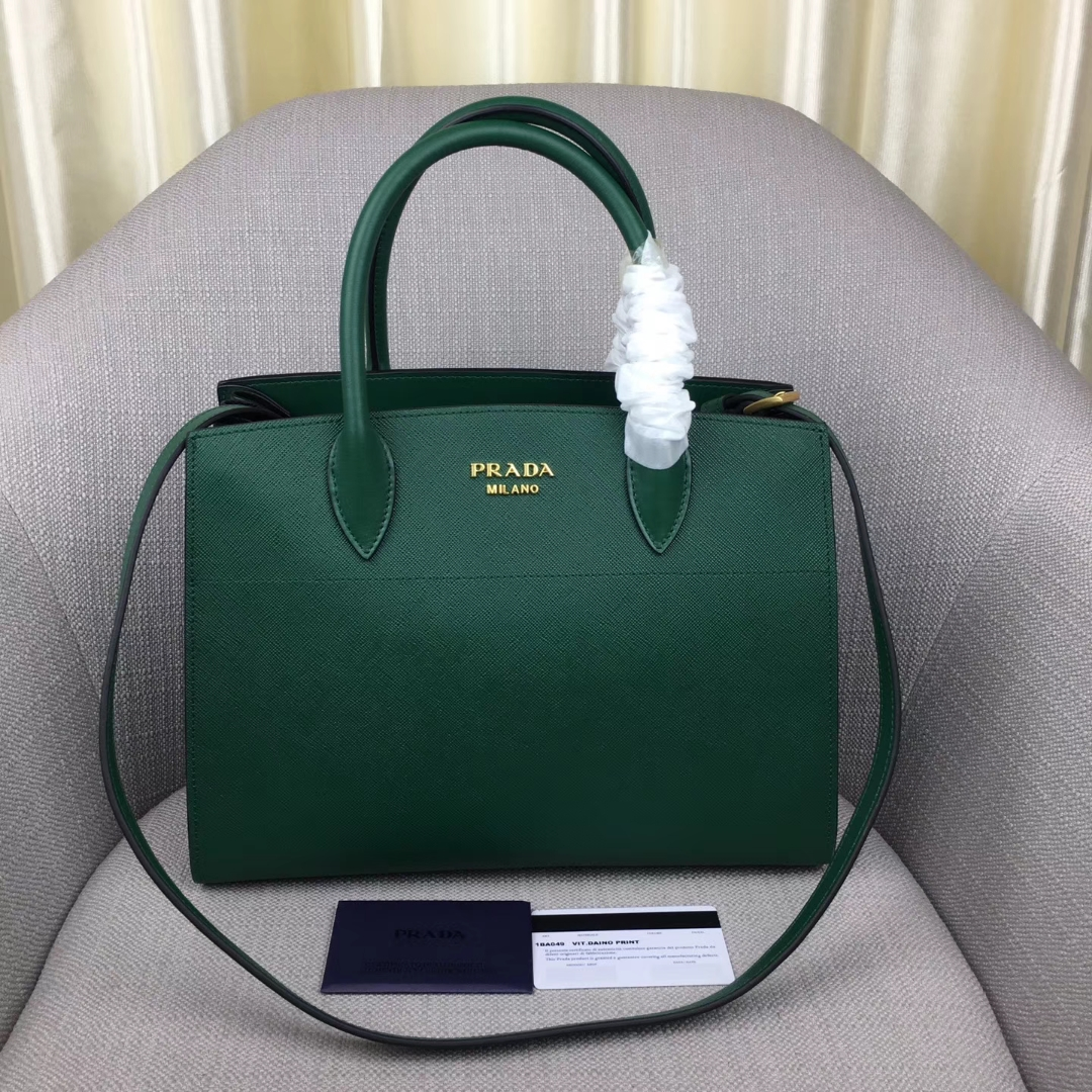 Prada bibliothèque Medium Saffiano Top Handle Tote Bag 1BA049