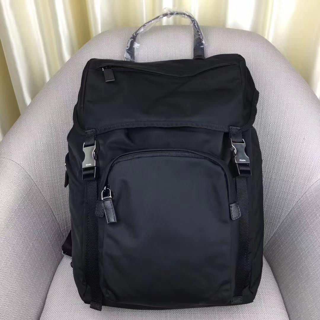 Prada Technical Fabric Backpack 2VZ135Black