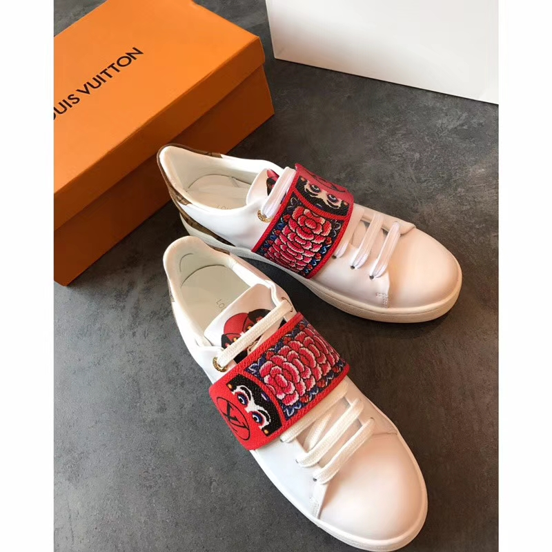Louis Vuitton white low-top sneakers 2018