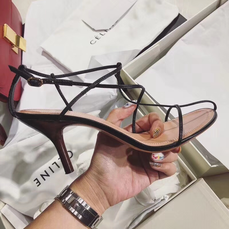 Celine nude sandal in kidskin 8cm heel pumps2018