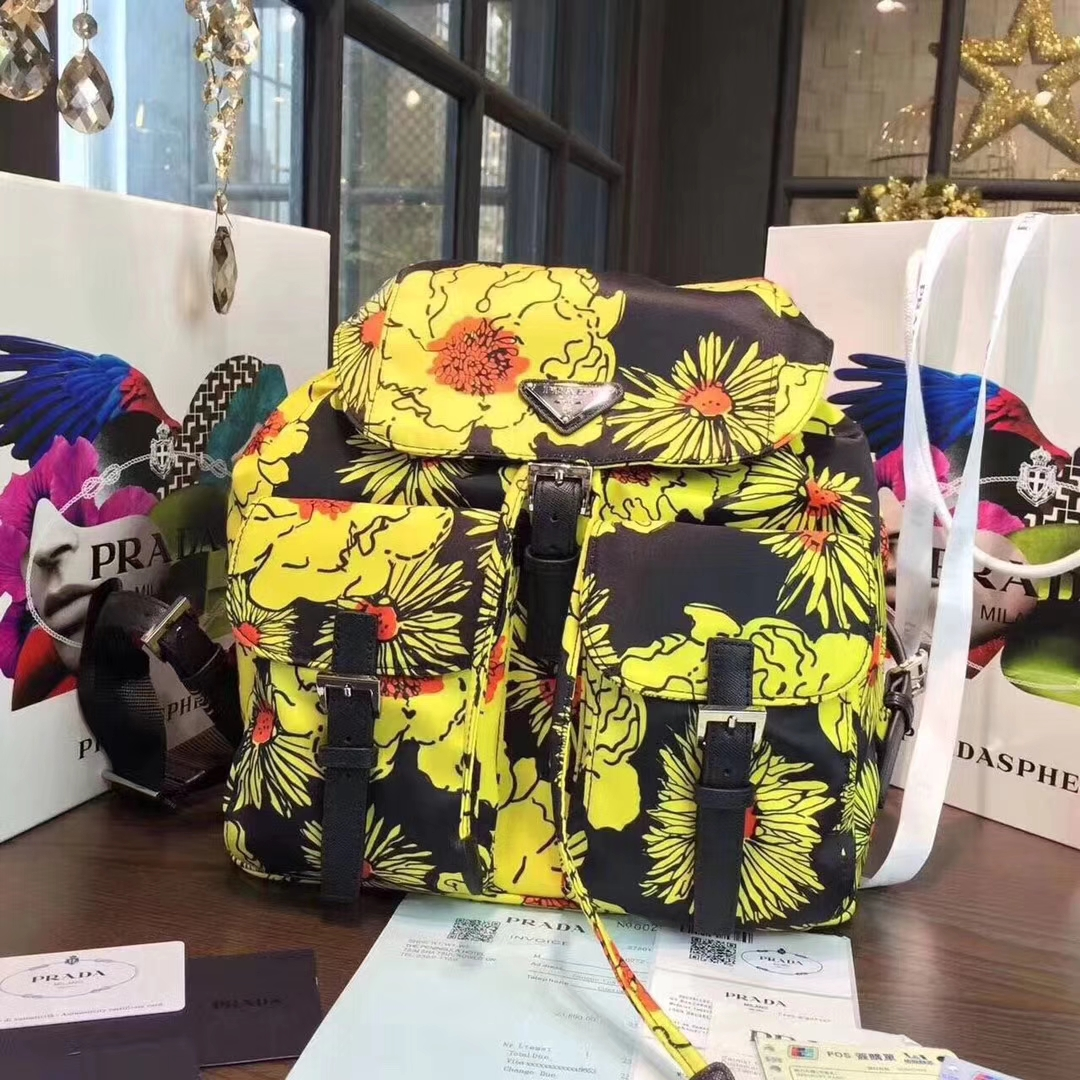 Prada fabric backpackBZ2811