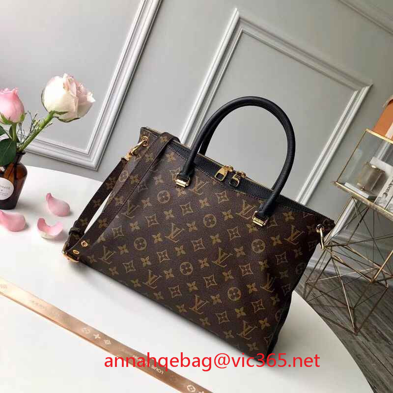 Louis Vuitton pallas monogram canvas bag M42756 noir 2018