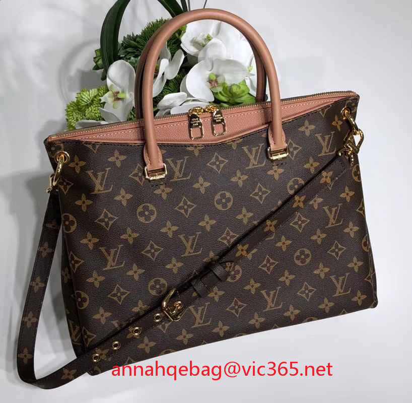 Louis Vuitton pallas monogram canvas bag M42810 raisin 2018