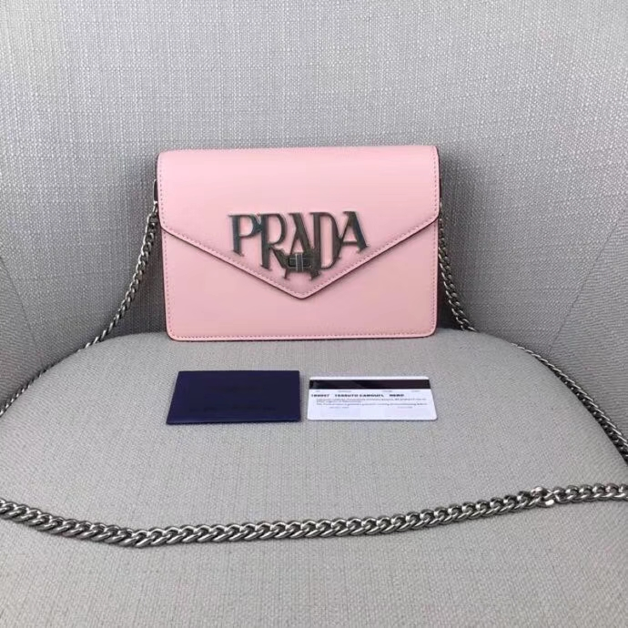 Prada macro logo leather crossbody bag 1BD0972018