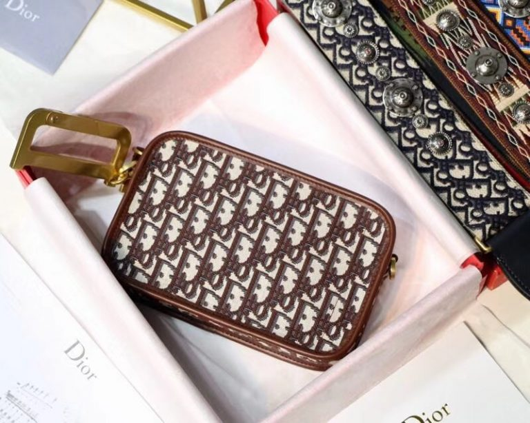 Dior Diorquake Clutch in Oblique Jacquard Canvas 2018