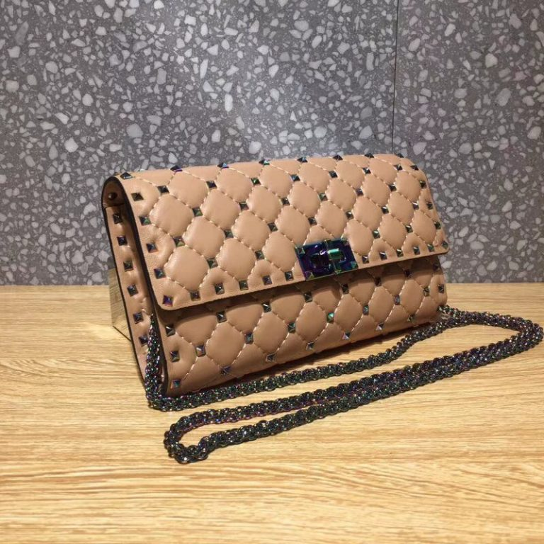 Valentino Rockstud Spike Crossbody Chain Bag with Colorful Hardware 0317 2018