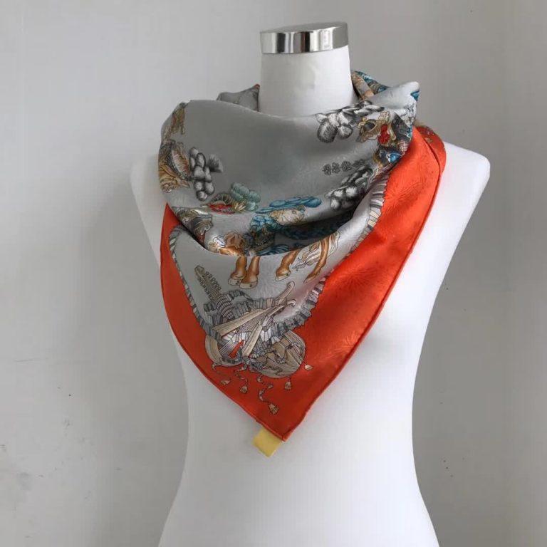 Hermes Carre/Sleigh Printed Silk Scarf 90x90CM2018