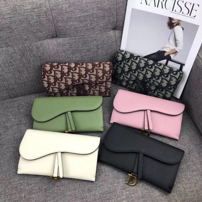 Dior Large Saddle Wallet on Chain Clutch2018