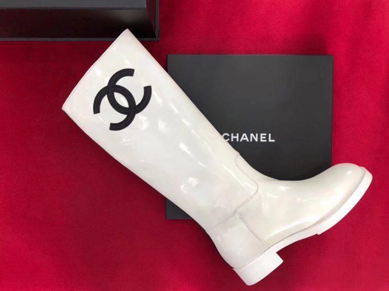 Chanel Calfskin/Velvet Flat High Boots G338702018