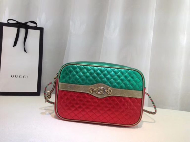 Gucci Laminated Leather Small Shoulder Bag ‎541061 2018