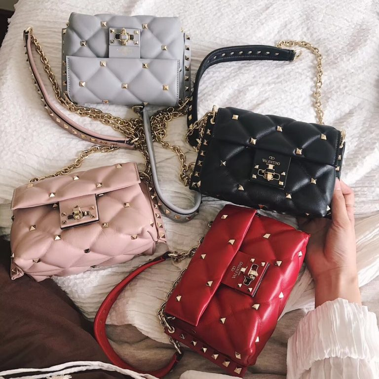 Valentino Candystud Mini/Small Crossbody Bag in Lambskin 2018