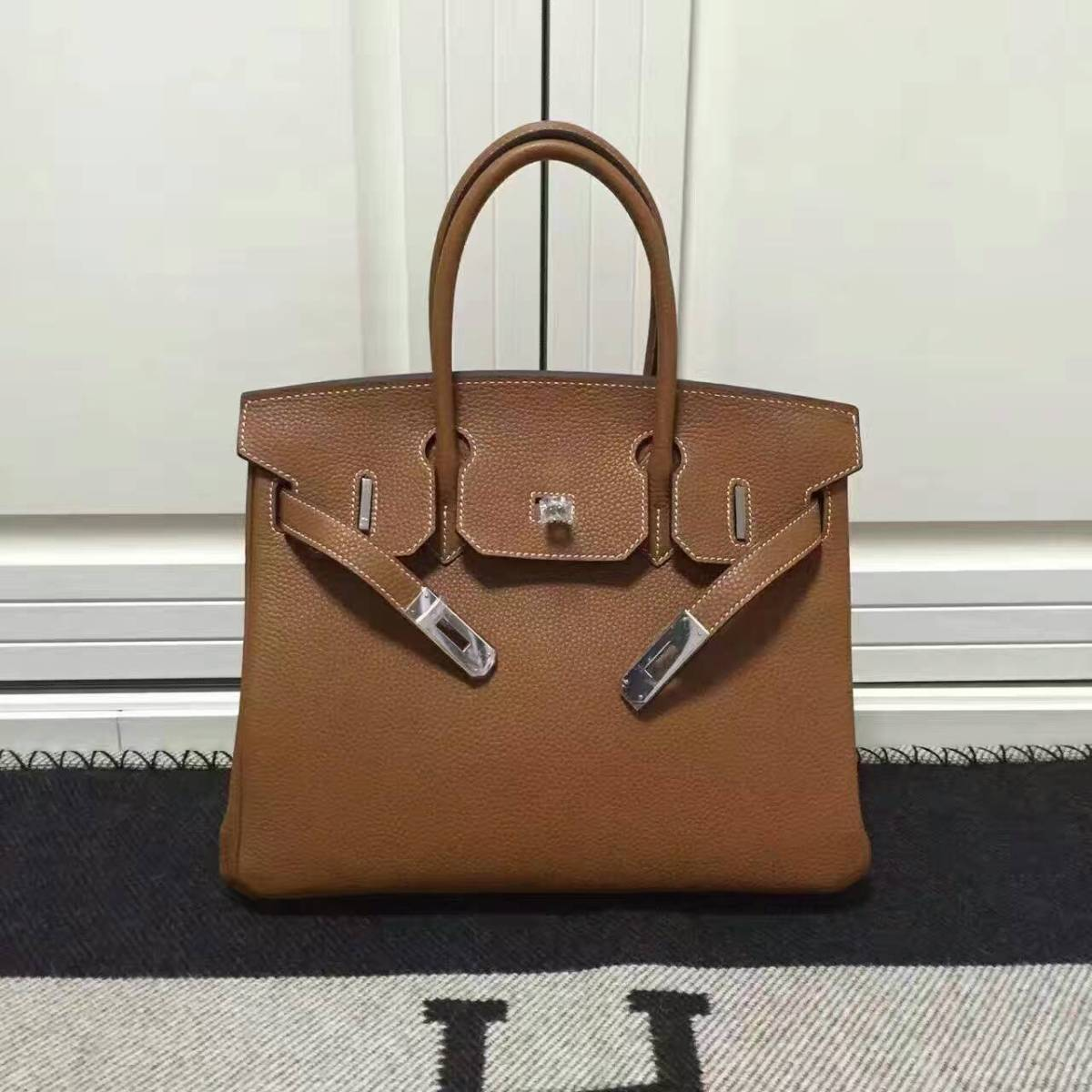 Hermes Birkin 30cm/35cm Original Togo leather bag camel tan