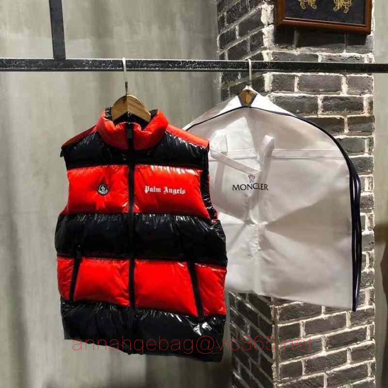 Moncler black and red vest jacket2018