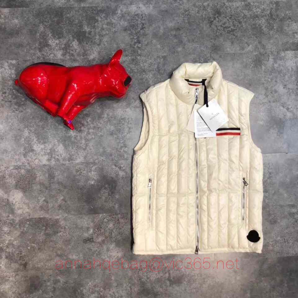 Moncler white vest jacket2018
