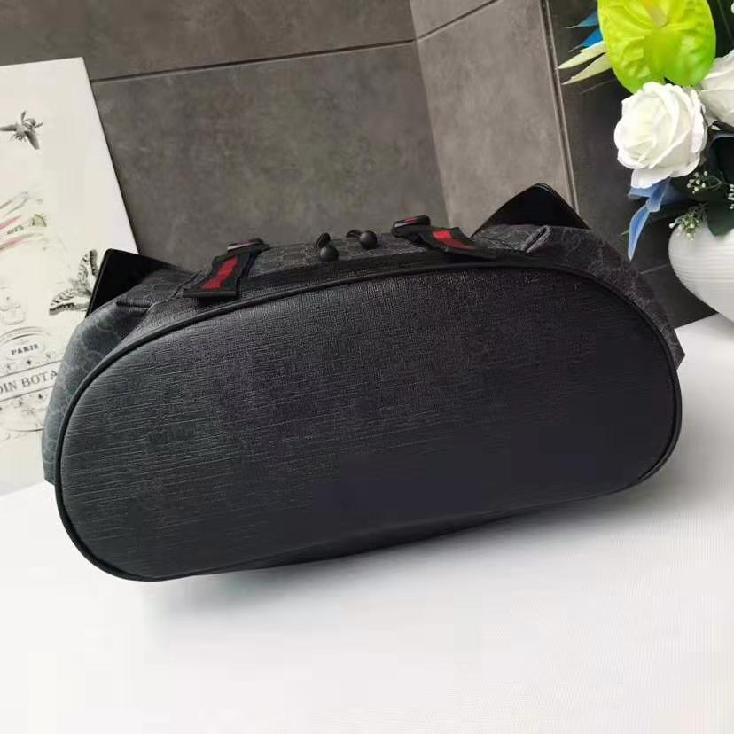 d3ae0477432 Gucci Soft GG Supreme Backpack 495563 Black Grey 2018 – HQEBGS Blog ...